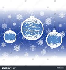 merry greeting card ornaments stock vector