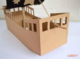 mollymoocrafts diy cardboard pirate ship craft tutorial