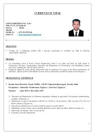 resume format for freshers diploma electrical engineers resume for electrical engineer entry level electrical engineer