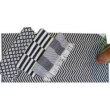 Geometrical Rugs Bath Rugs Manufacturer From Panipat