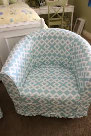 turquoise chair slipcover simple barrel chair slipcovers homesfeed