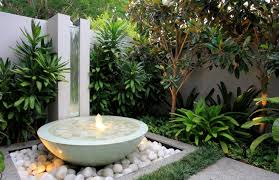 very small garden design ideas front house with natural stone