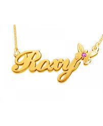 Birthstone Name Necklace Roxy Butterfly Birthstone Name Necklace The Name Necklace