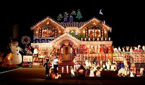 Decorated Homes Houses Decorated Christmas Decorated Homes Home Design Concept