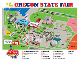 State Map Of Oregon by Fairgrounds Map Oregon State Fair