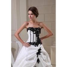 robe de mari e noir et blanc robe de mariee blanc et noir le de la mode