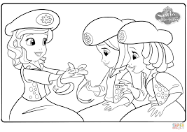 sofia and buttercups coloring page free printable coloring pages