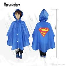 raincoat kids cartoon spiderman rain gear 2017 kids superhero
