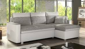 Grey Corner Sofa Bed Fleeta Fabric Corner Sofa Bed With Storage White And Grey High