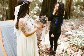 wedding photographers ta california redwood elopement adventure wedding photographer