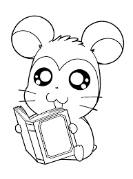 hamtaro coloring pages 햄토리 색칠공부 pinterest hamtaro