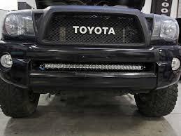 30 Curved Led Light Bar by 2005 2015 Toyota Tacoma Bumper Mount Kit Black Rigid Industries