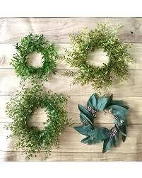 artificial boxwood wreath sale tiny boxwood wreath mini eucalyptus wreath candle