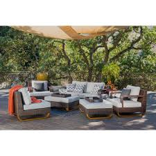 Outdoor Side Table Rattan Seating Sets Costco