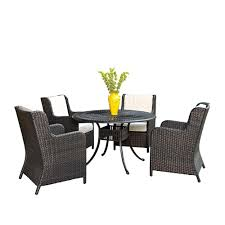 Outdoor Woven Chairs Oakland Living Tuscany Stone Art 54 In 7 Piece Patio Wicker Chair