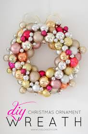how to make a ornament wreath livelovediy
