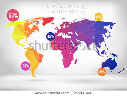 vector map of the world world map markers eps 10 vector stock vector 135762716