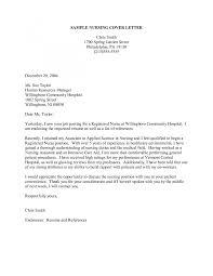 cover letter cover letter new grad nurse sample cover letter for