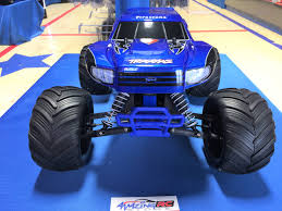 bigfoot electric monster truck the traxxas original monster truck bigfoot firestone u2013 blue