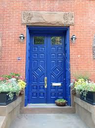 brownstone front door try using benjamin moore paddington blue