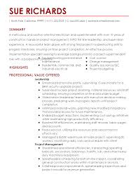 Warehouse Resume Skills Free Superintendent Construction Resume Resume For Your Job Application