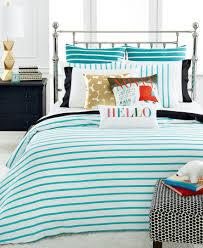 Hawaiian Bedding Kate Spade New York Harbour Stripe Turquoise King Comforter Set