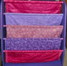 Fabric Sling Bookshelf Toddler Sized Book Rack Displays Books With Covers Forward Making