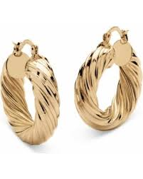 types of earring backs for pierced ears great deal on palm jewelry tailored goldtone twist hoop