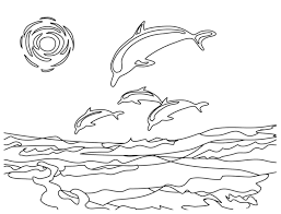 coloring pages dolphins beach coloring page dolphins easy pagejpg