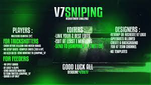 Challenge Montage V7 Sniping Recruitment Challenge Use V7rc To Apply