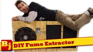 exhaust fan for welding shop diy fume extractor youtube