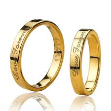 engagement rings for couples 18k golden filled tungsten lover rings for couples price for a