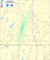Tornado Map The Moore Oklahoma Tornado Of 4 October 1998