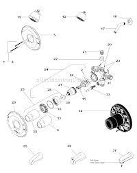 Bathtub Faucet Parts Delta Faucet 1343 Parts List And Diagram Ereplacementparts Com