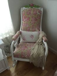 antique upholstered rocking chair shop rare antique collectibles