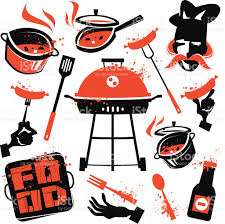 bbq vector logo design template cooking or kitchen icon stock