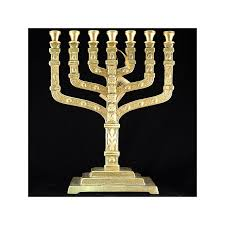 menorah 7 branch brass 12 tribe menorah 7 branch