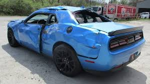 dodge challenger hellcat dodge challenger srt hellcat wrecked after just 18 fox