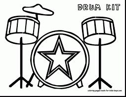 terrific drum coloring pages kids yo gabba gabba