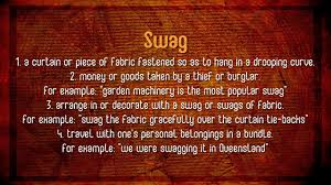 Swag Meaning Audio Video Dictionary English Dictionary Audio
