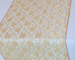 gold lace table runner gold lace runner etsy
