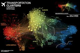 World Geography Map Amazing Map Of Air Traffic Network Geoawesomeness