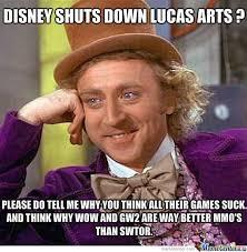 Shut Down Meme - disney shuts down lucas arts trolls will troll by recyclebin meme