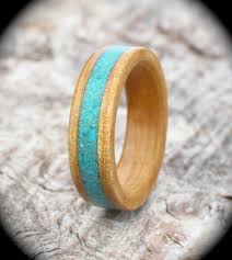 silver wood rings images Silver birch and gemstone wooden ring jpg