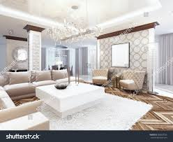 livingroom deco luxurious large living room style art stock illustration 509023735