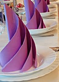 Decorative Napkin Folding Wedding Napkin Folding Lmf Reception Decor Content Ideas