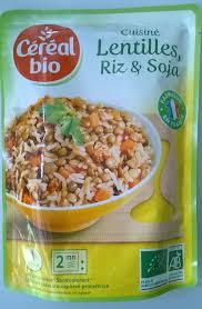 riz cuisiné cuisiné lentilles riz soja céréal bio 250 g
