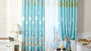 Blue Nursery Curtains Nursery Blackout Curtains Intended For Motivate Csublogs Com