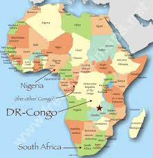 africa map labeled countries where we re at adventures in congo