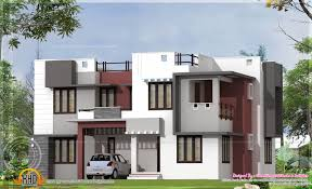 2160 square feet modern flat roof home exterior kerala home